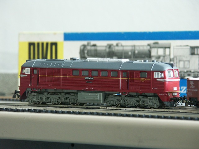 Model railway piko diesel locomotive.