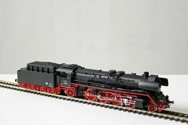 Model railway steam locomotive railway.