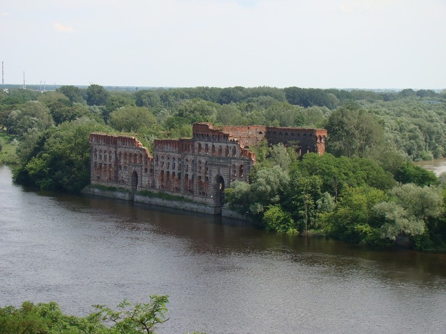 Modlin river fortress, travel vacation.