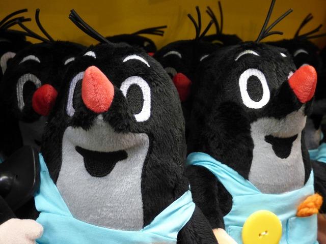 Mole plush toy, animals.