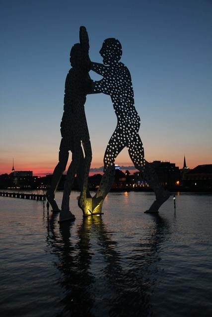 Molecule men berlin spree, architecture buildings.