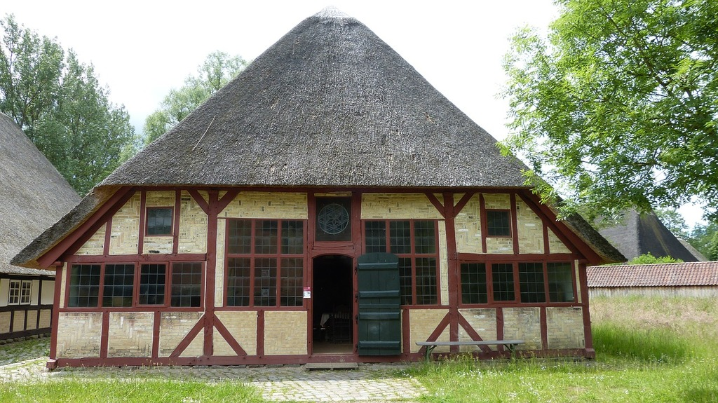Molfsee open air museum building, architecture buildings.