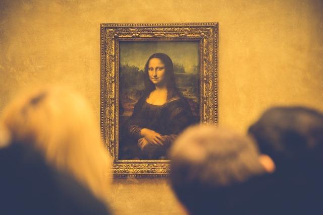 Mona lisa painting art.