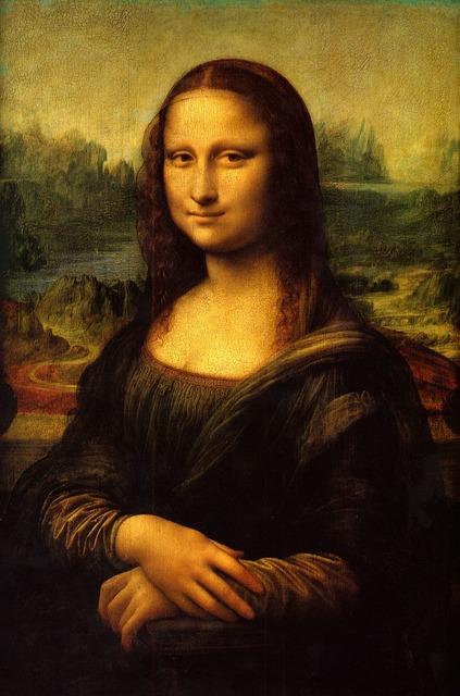 Mona lisa painting art, beauty fashion.