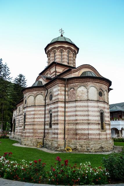 Monastery cozia romania, architecture buildings.