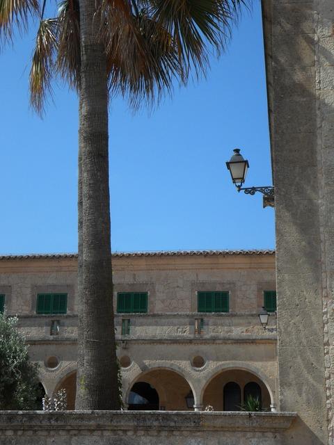Monastery garden monastery cloister, architecture buildings.
