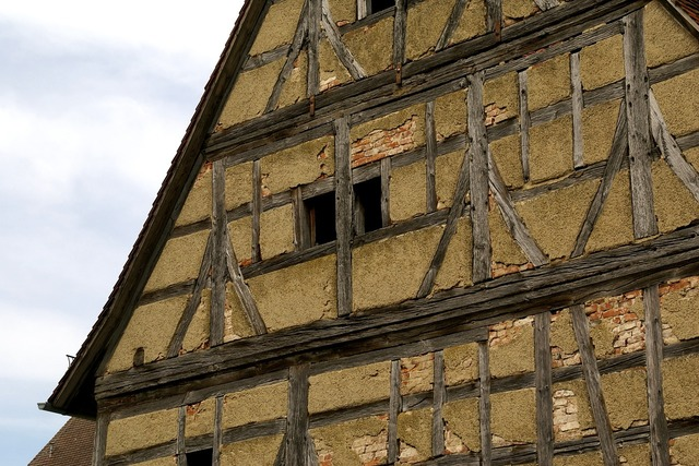 Monastery heiligkreuztal timber framing house, architecture buildings.