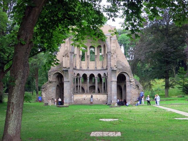 Monastery ruin building, architecture buildings.