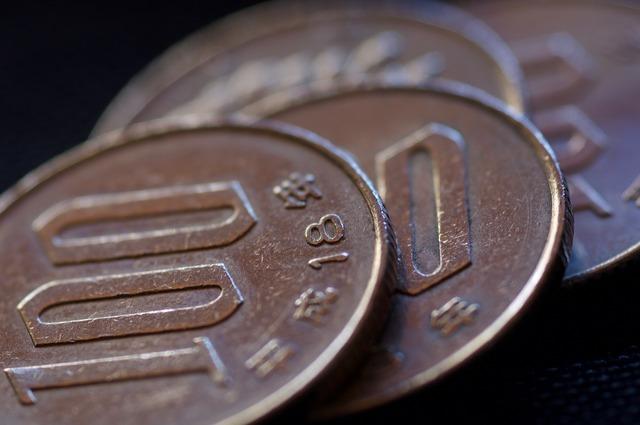 Money coin yen, business finance.