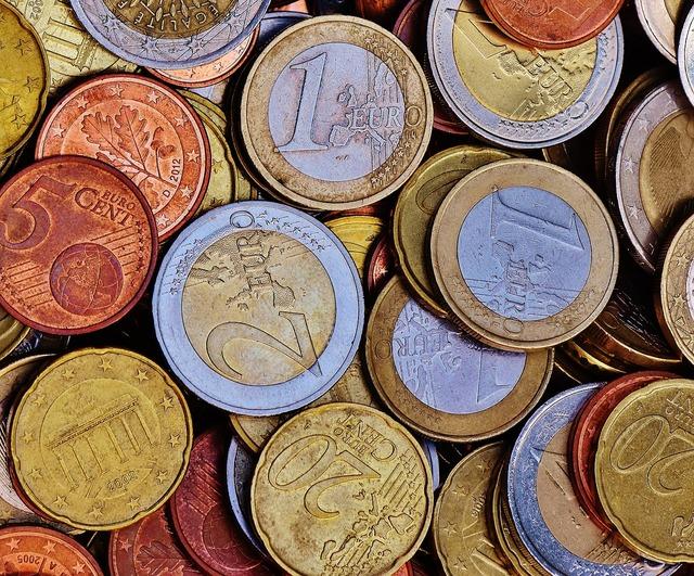 Money coins euro, business finance.