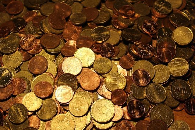 Money coins euro coins, business finance.
