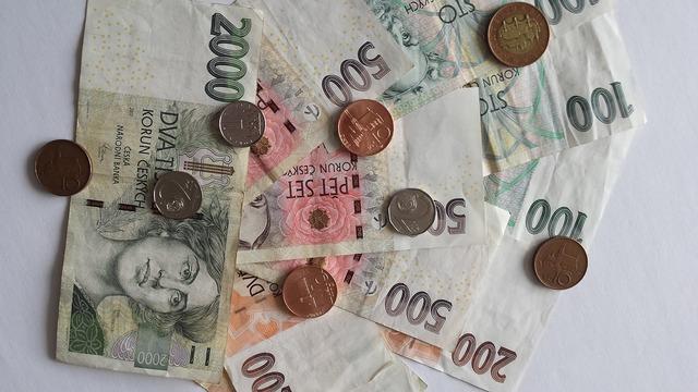 Money currency czech koruna, business finance.