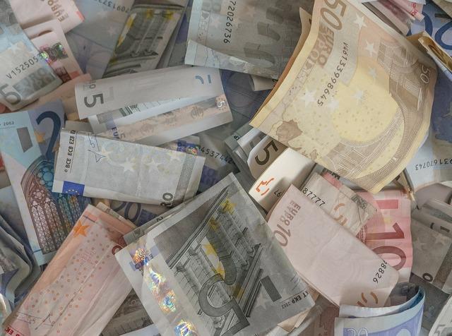 Money eur ticket, business finance.