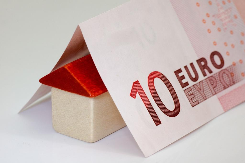 Money euro bank note, business finance.