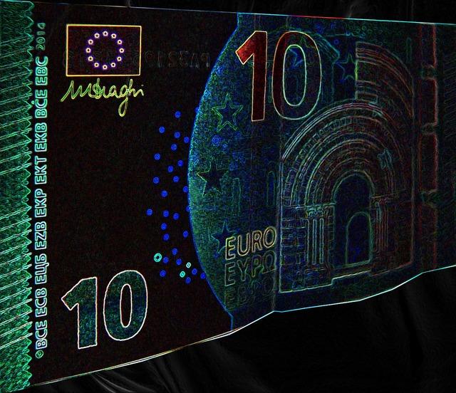 Money euro dollar bill, business finance.