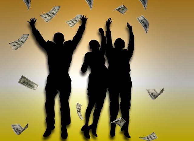 Money rain dollar, business finance.
