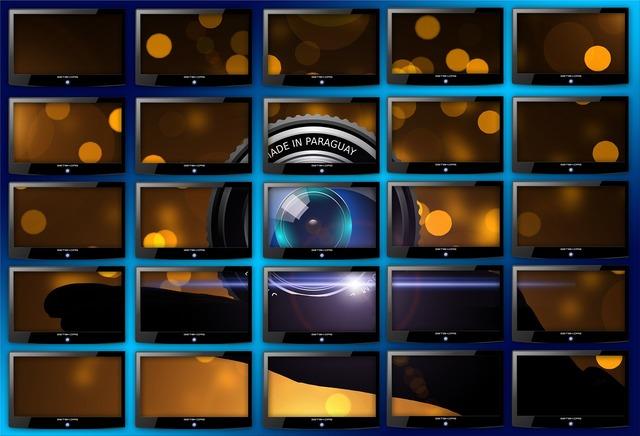 Monitor monitor wall big screen, science technology.