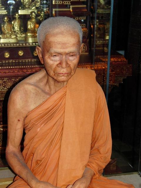 Monk buddhism thailand, religion.