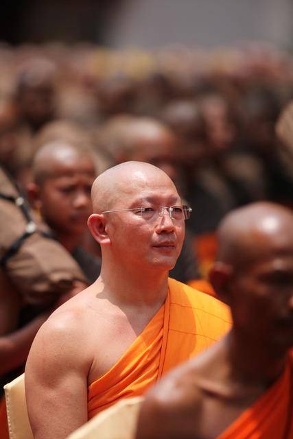 Monk buddhist meditate, people.