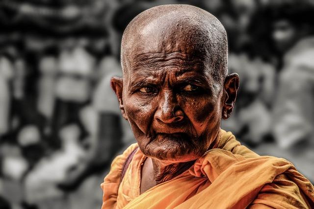 Monk path buddhist, religion.