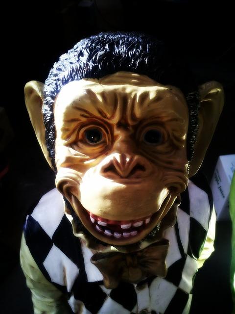 Monkey mask creepy.