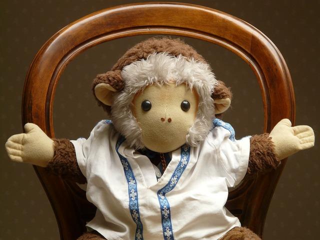 Monkey stuffed animal toys.