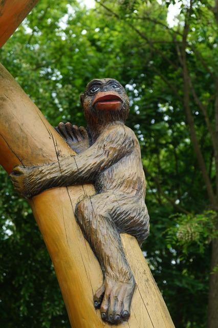 Monkey tree äffchen, nature landscapes.