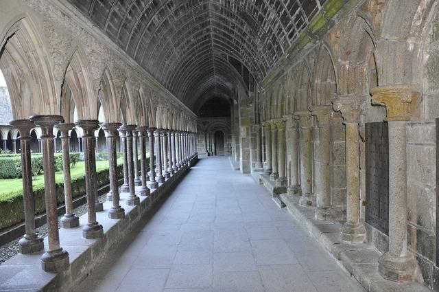Mont saint michel abbey church, religion.