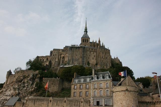 Mont saint-michel abbey normandy.