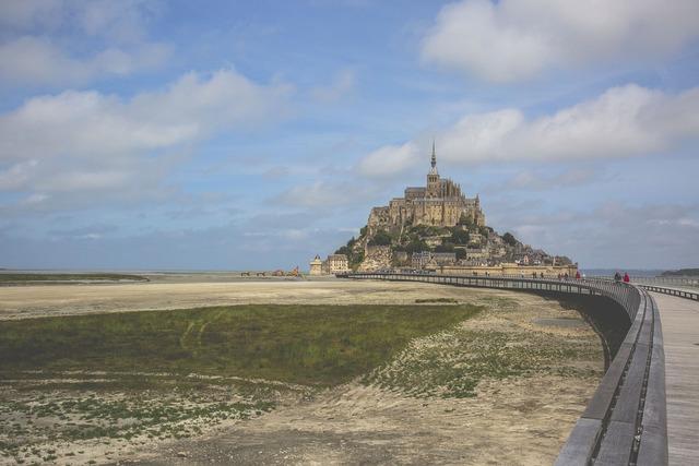 Mont saint michel bay promontory.