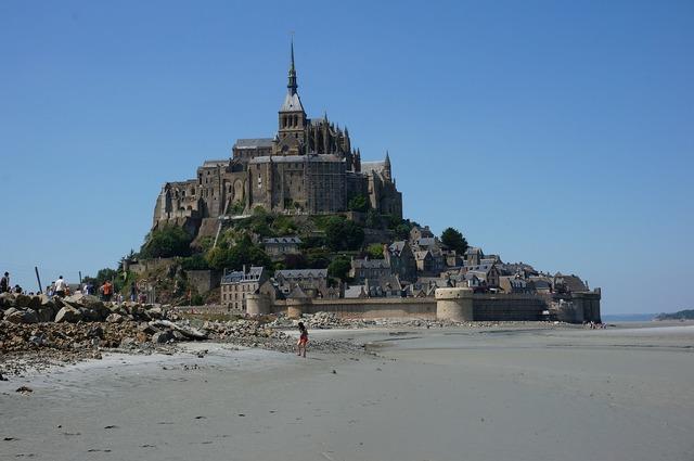 Mont saint michel normandy benedictine monastery.