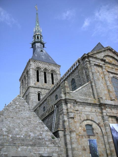 Mont saint michel normandy normandie, places monuments.