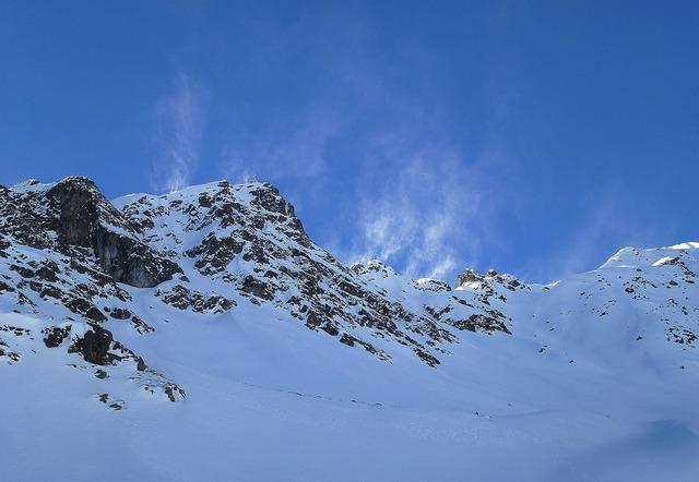 Montafon mountain summit winter.
