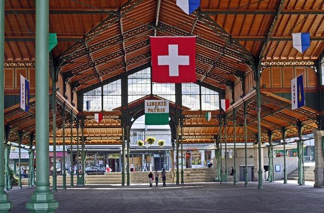 Montreux market hall event hall, architecture buildings.