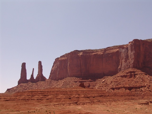 Monument valley rock mountain, nature landscapes.