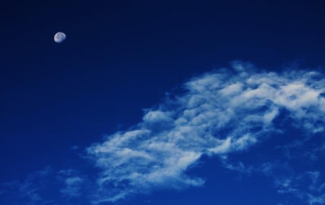 Moon clouds sky, nature landscapes.