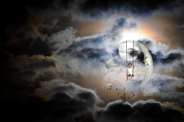 Moon moonlight dream world, people.