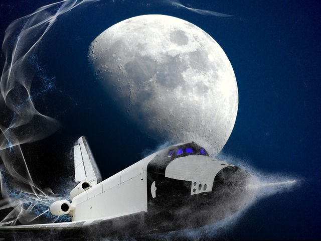 Moon space shuttle, backgrounds textures.