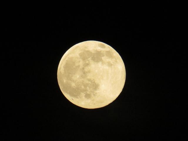 Moon summer night italy.