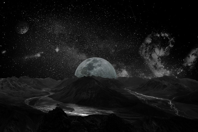 Moon universe space, backgrounds textures.