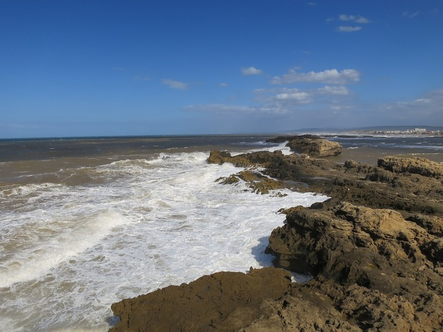 Morocco beach surf, travel vacation.