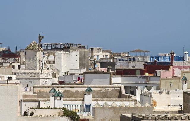 Morocco essaouira roofs.