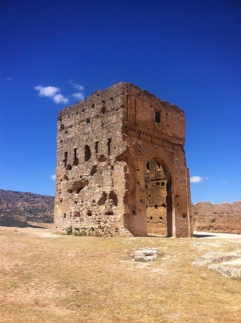 Morocco fez ruins, architecture buildings.