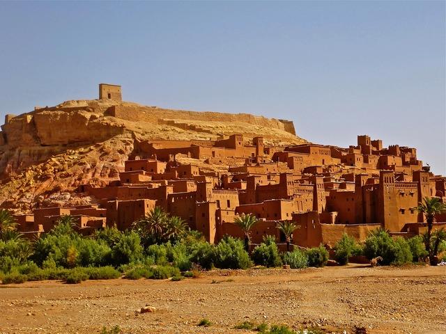 Morocco fortress adobe.