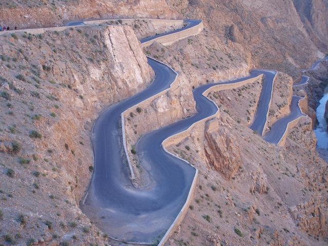 Morocco road grá, transportation traffic.