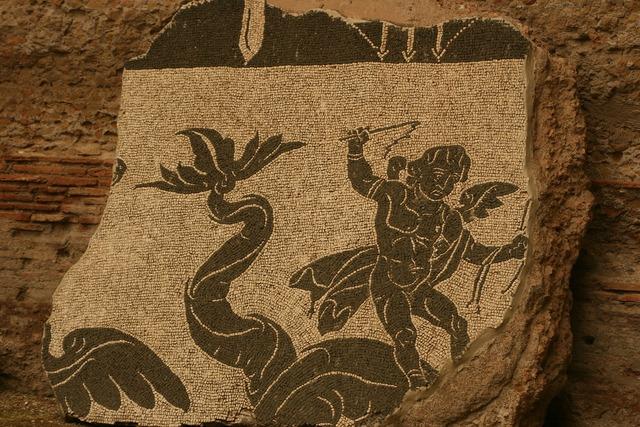 Mosaic archeology design.