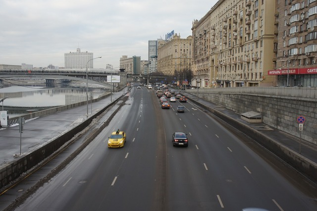 Moscow road highway, transportation traffic.