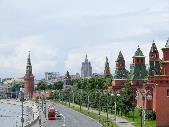 Moscow the kremlin kremlevskaya embankment, architecture buildings.