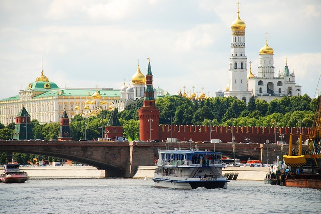 Moscow the kremlin river.