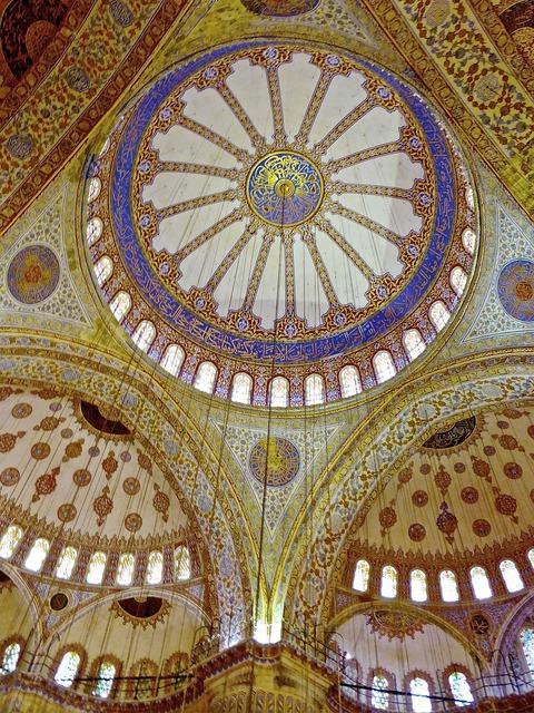 Mosque dome islamic, architecture buildings.